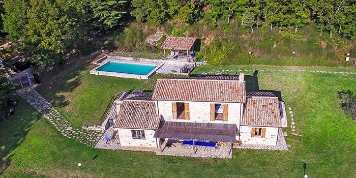 Villa Cipresso in Umbria - Aerial View