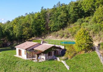 Villa Carina in Umbria - Aerial View