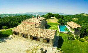 Villa Pianesante in Umbria - Aerial View