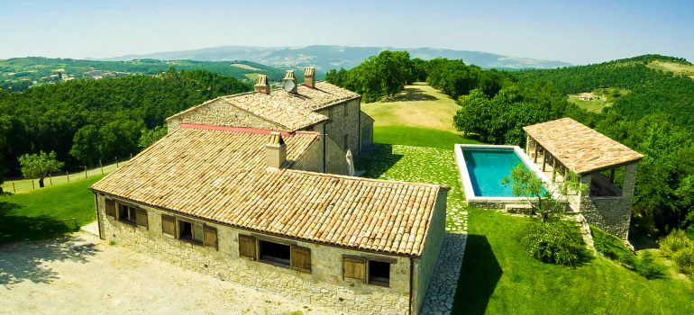 Villa Pianesante in Umbria - Aerial View