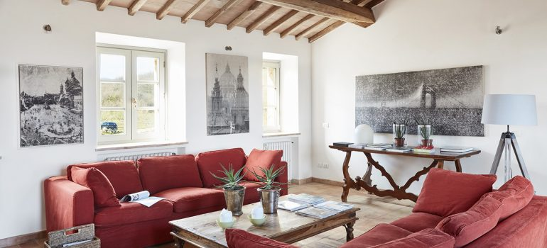 Villa Campo Rinaldo in Umbria - Living room